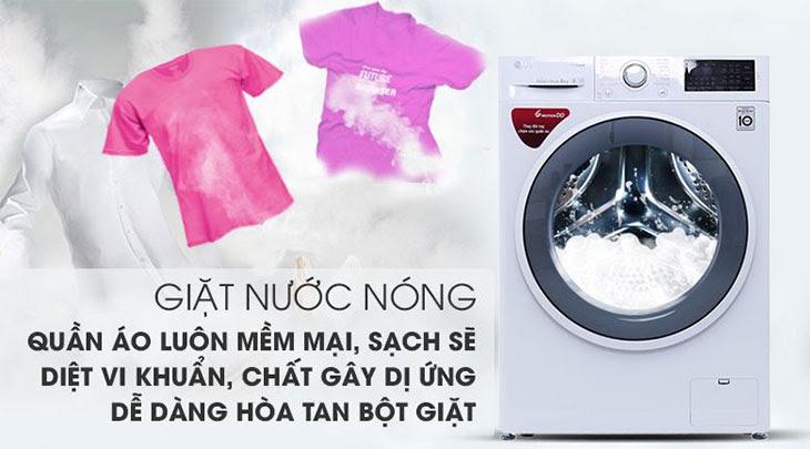 Chọn máy giặt các tiện ích như giặt nước nóng