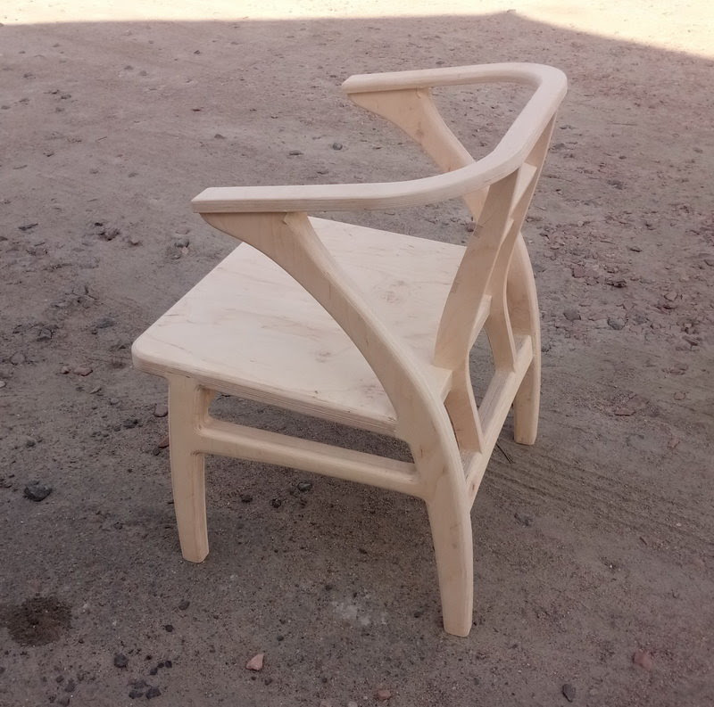 фанерное кресло без покраски