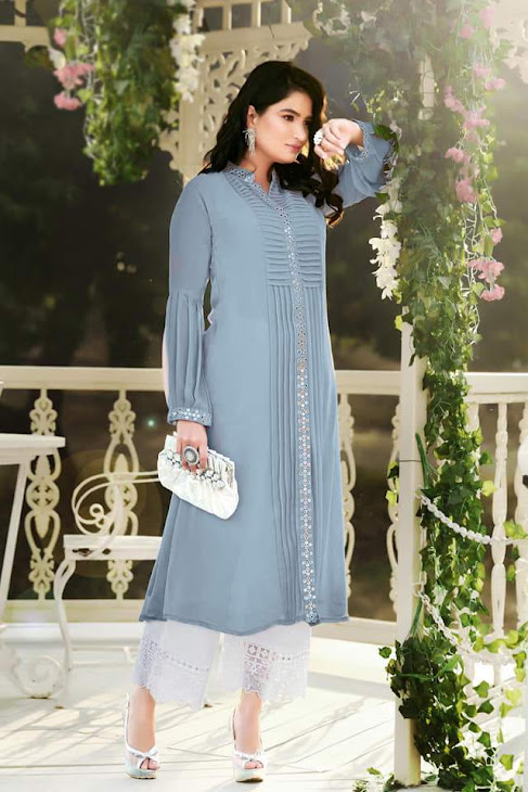 Tex Tres Chic Collection Zs 20 Kurtis Plazzo Set Catalog Lowest Price