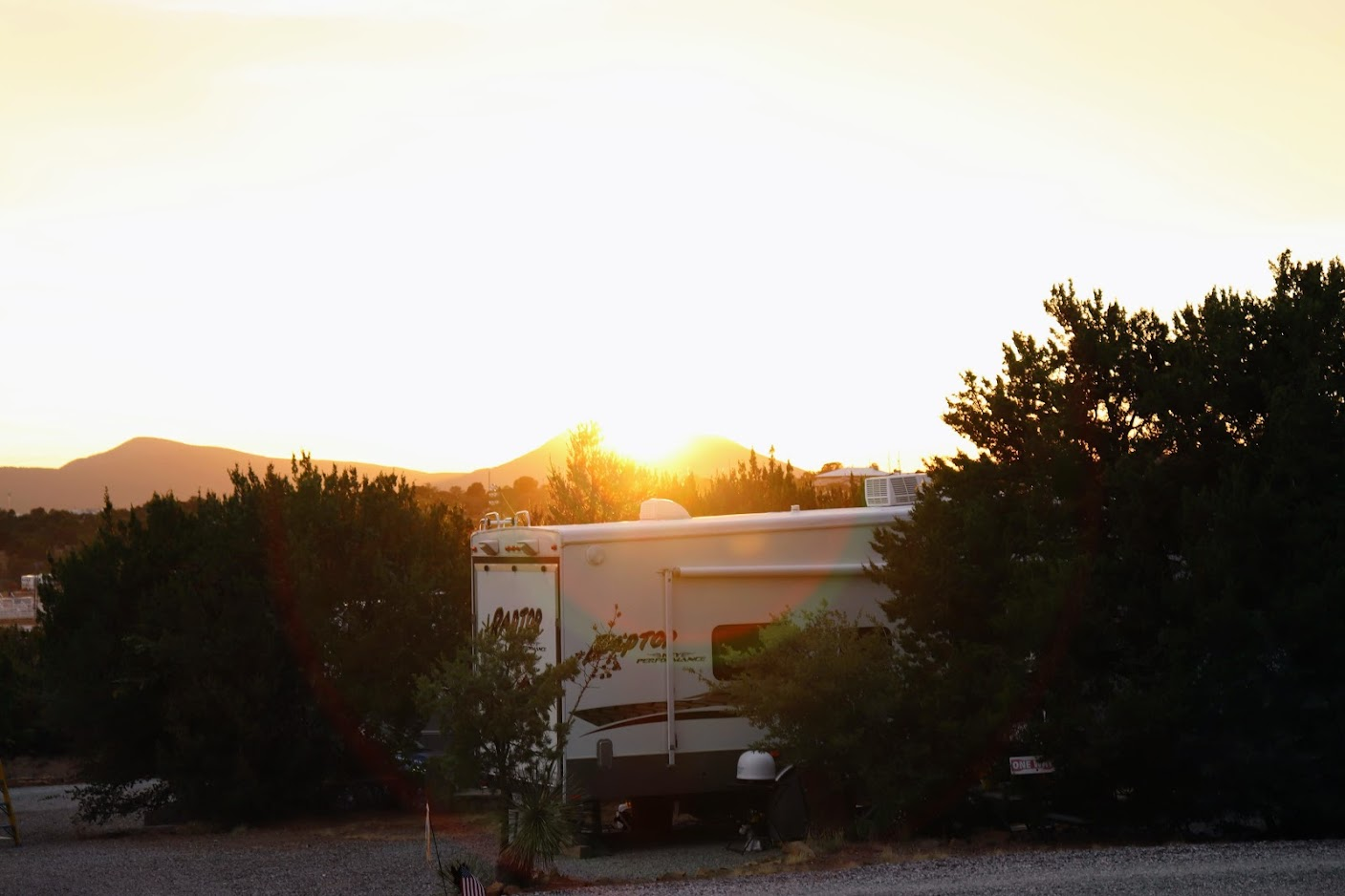 Manzano's RV Park at sunset in 2020