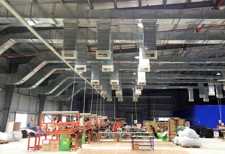 Phương pháp làm mát nhà xưởng bằng hệ thống điều hòa công nghiệp Chiller