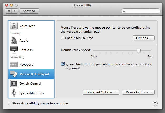 How to Disable MacBook Trackpad when mouse is connected