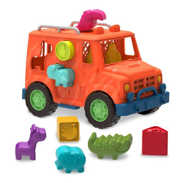 Contenido de Wonder Wheels Camión 4 x 4 Safari Formas