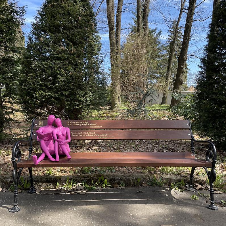 Botanická záhrada - Lavička so Zaľúbencami