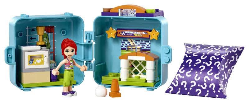 Contenido de LEGO® 41669 Cubo de Futbolista de Mia