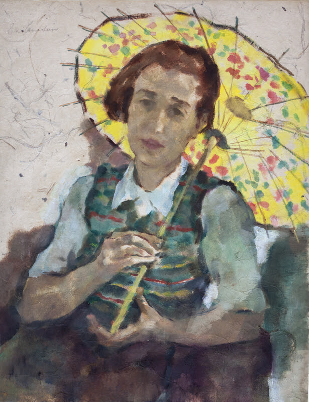 Leicester_Lotte-Laserstein_The_yellow_parasol_1935