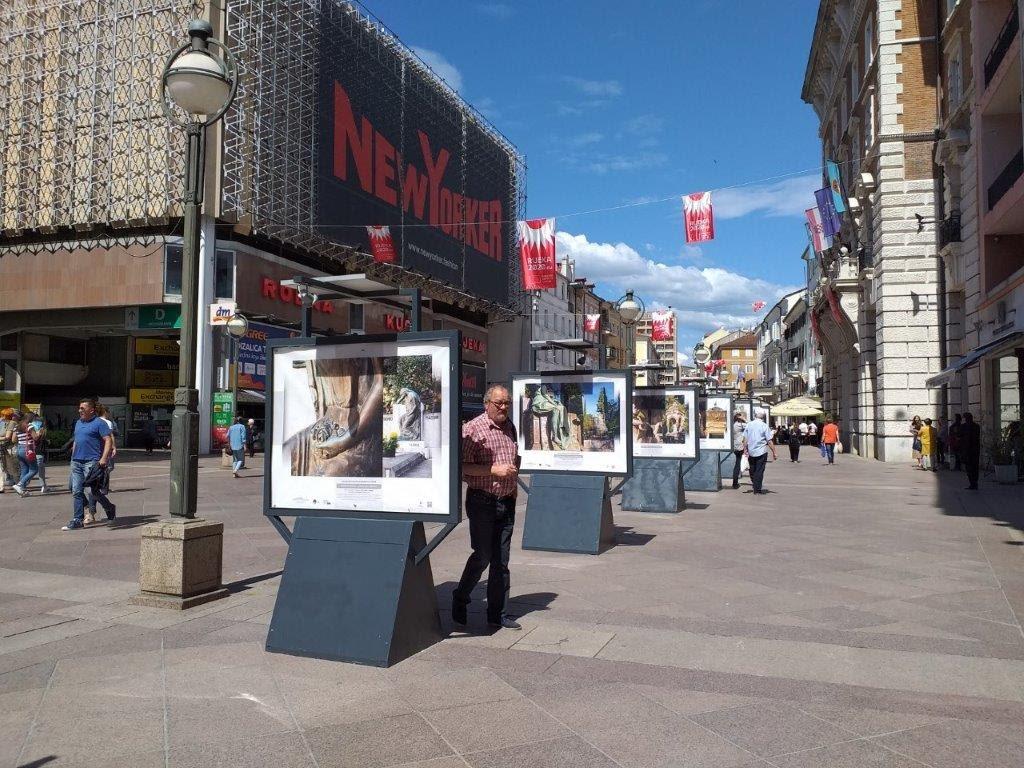 Rijeka Korzo photo exhibition of cemeteries