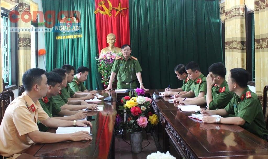 Công an huyện Quỳ Châu họp bàn về công tác đấu tranh phòng, chống các loại tội phạm trên địa bàn