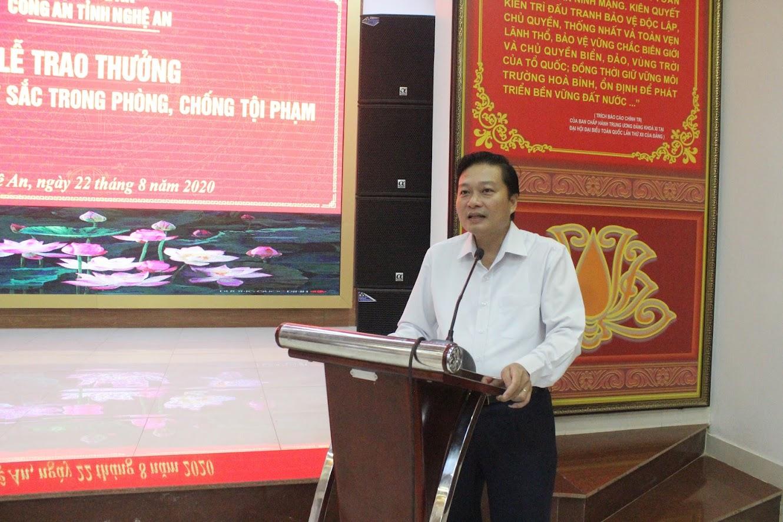Đồng chí Lê Hồng Vinh, Ủy viên BTV Tỉnh ủy, Phó Chủ tịch Thường trực UBND tỉnh phát biểu chỉ đạo