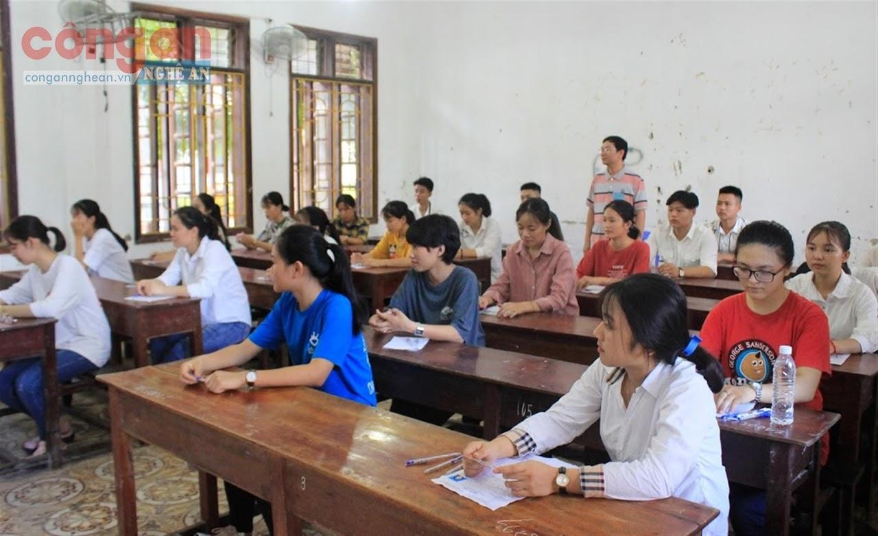 Thí sinh Nghệ An tham dự kỳ thi THPT quốc gia năm 2019
