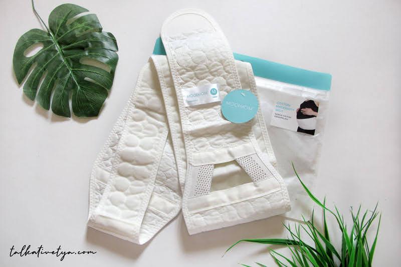 desain mooimom white maternity belt korset hamil