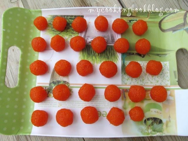 Оформени Черешки от моркови