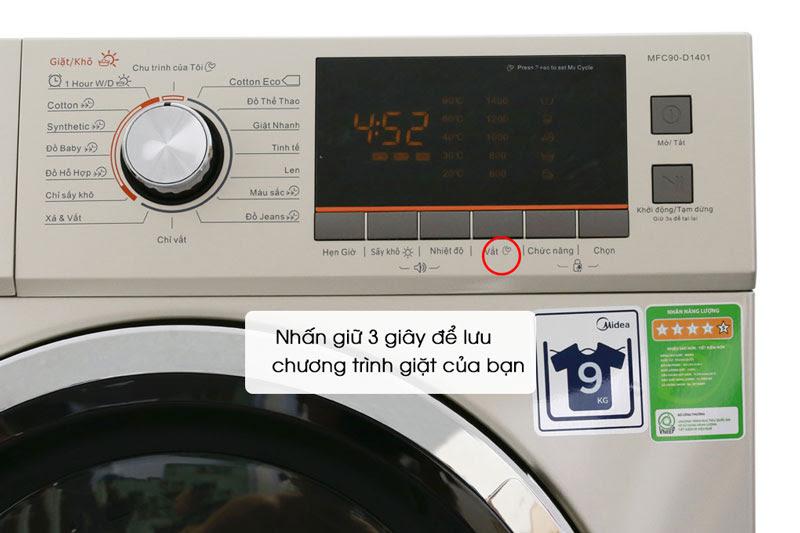 Tính năng phụ trợ My Cycle của máy giặt Midea