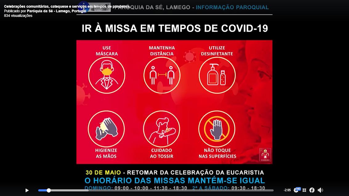 Paróquia da Sé lançou vídeo com indicações para o retomar das celebrações comunitárias das Missas
