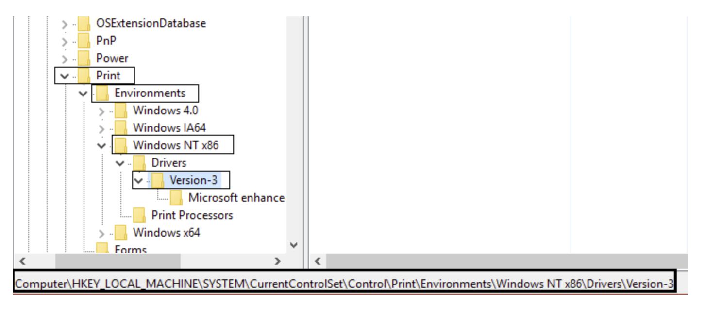 Delete Version-3 registry key