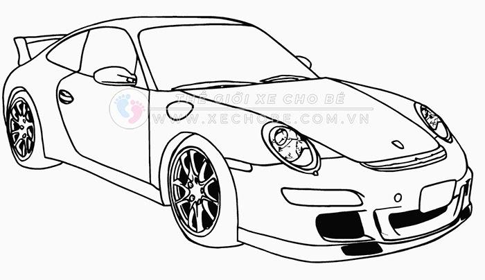 tranh tô màu xe ô tô cho bé 2
