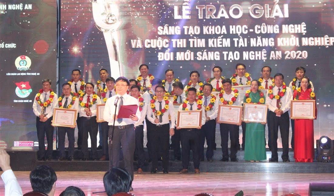 Phó Chủ tịch UBND tỉnh Bùi Đình Long phát động Giải Sáng tạo Khoa học và Công nghệ và Khởi nghiệp đổi mới sáng tạo Nghệ An giai đoạn 2020 - 2023