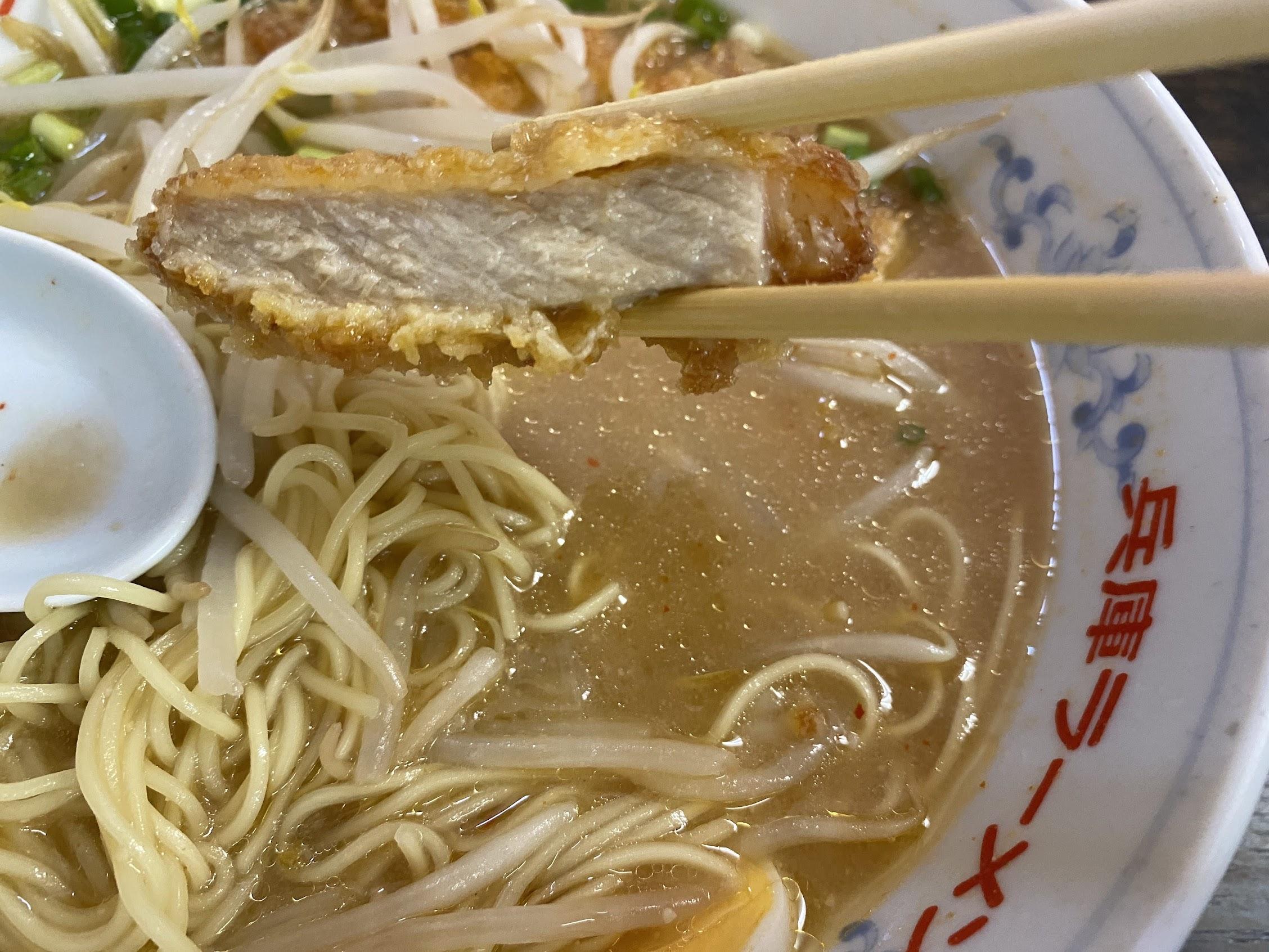 兵庫ラーメン高須店味噌カツラーメン豚カツ