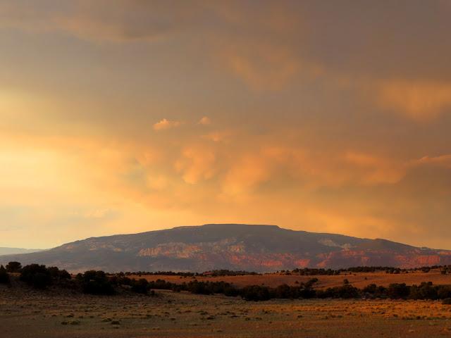 Thousand Lake Mountain at sunset