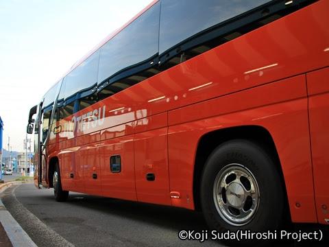 伊予鉄バス「道後エクスプレスふくおか号」 5620 今治駅前到着_02