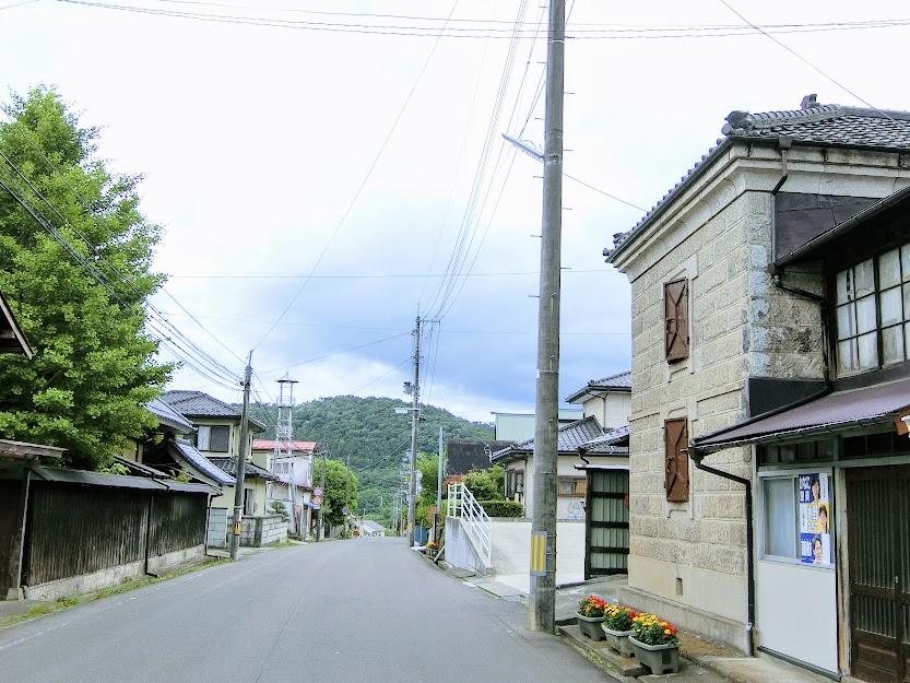 貝田宿の町並み