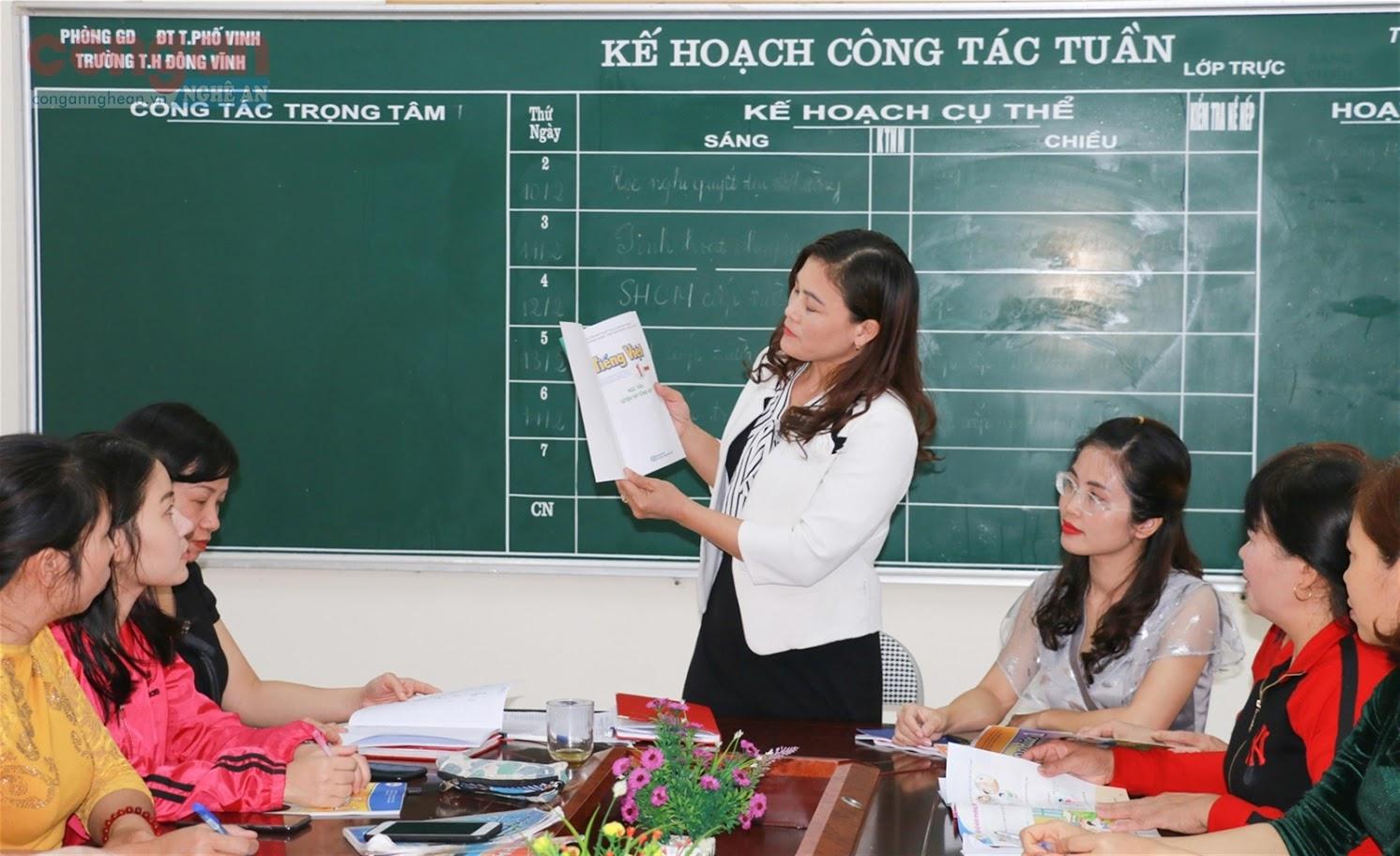 Các trường học trên địa bàn tỉnh tích cực tuyên truyền chương trình GDPT mới  tới tất cả cán bộ, giáo viên