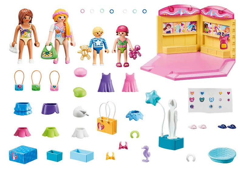 Contenido Real de Playmobil® 70592 Tienda de Moda Infantil