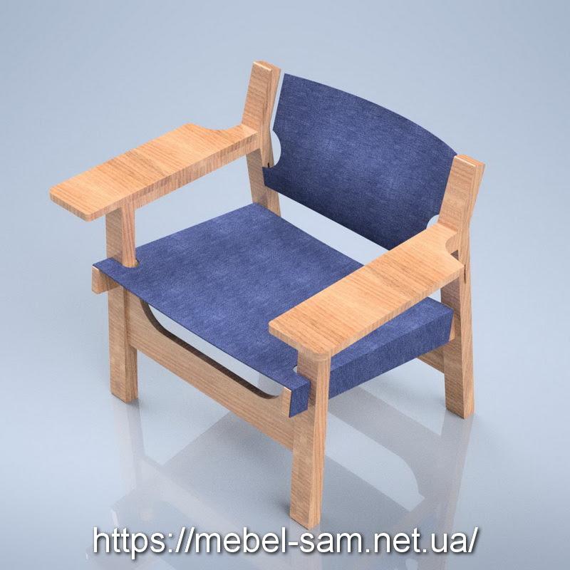 Кресло из фанеры - общий вид