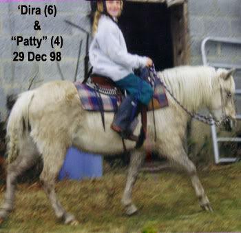 Madira riding Patty