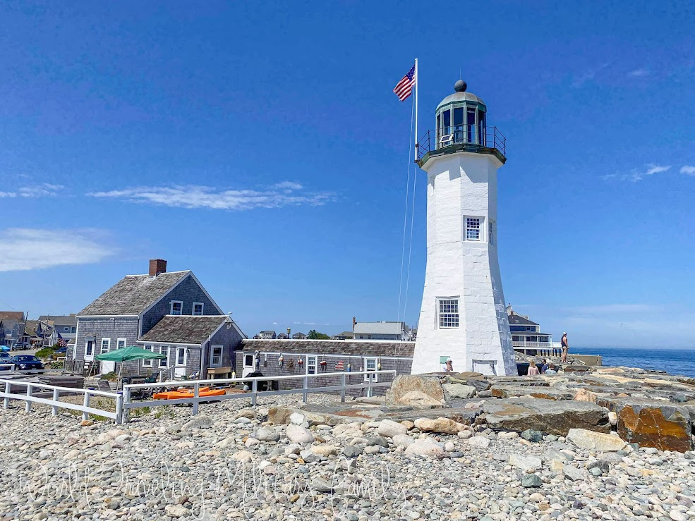 Scituate Lighthouse with keeper house