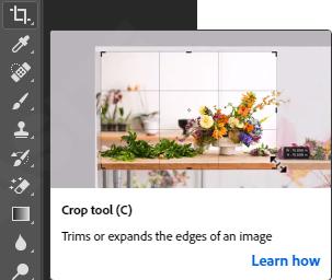 Crop tools photoshop