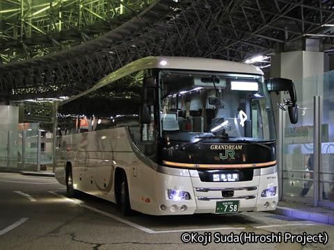 JRバス東北「百万石ドリーム政宗号」 H677-18408 金沢駅東口にて