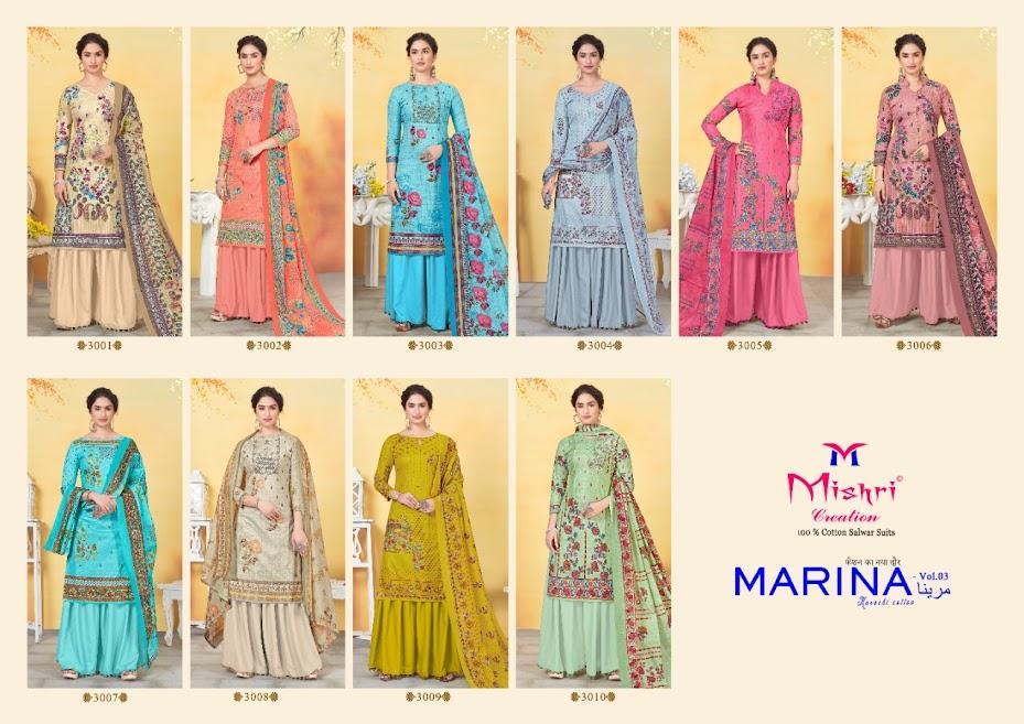 Marina Vol 3 Mishri Cotton Suits Manufacturer Wholesaler