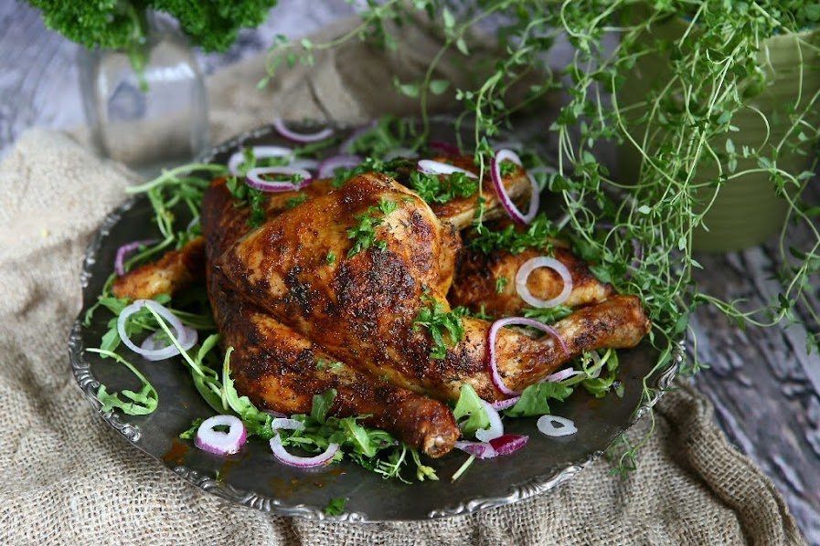 Spicy Baked Chicken Quarters