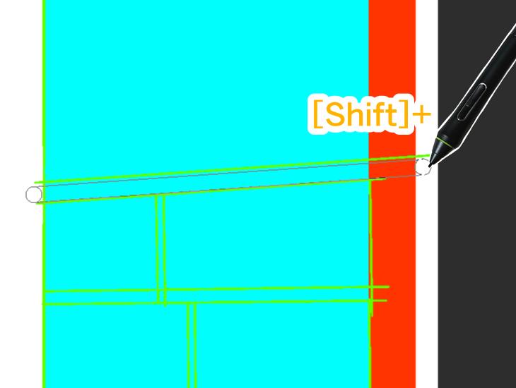 Shiftで直線描画