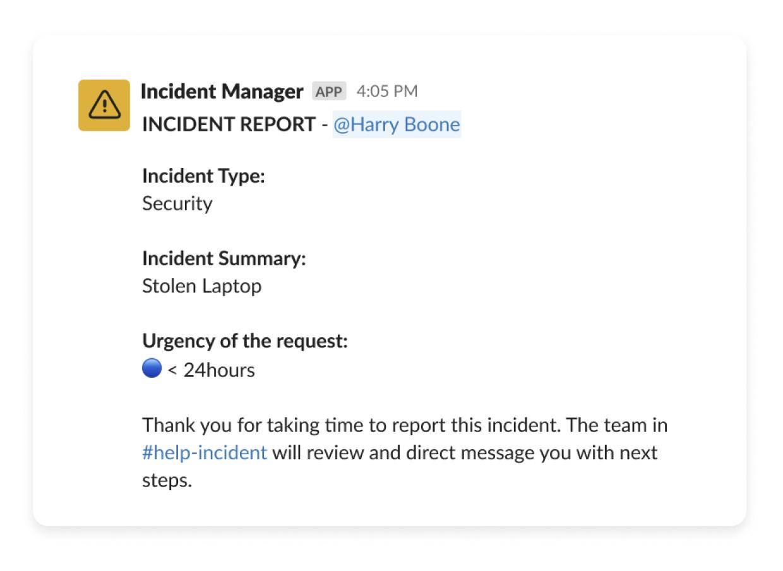 Incident Manager in Slack