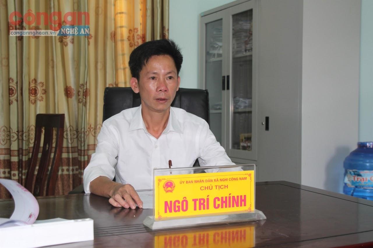Đồng chí Ngô Trí Chính, Chủ tịch UBND xã Nghi Công Nam