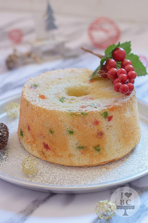 Angel Food Cake de Navidad