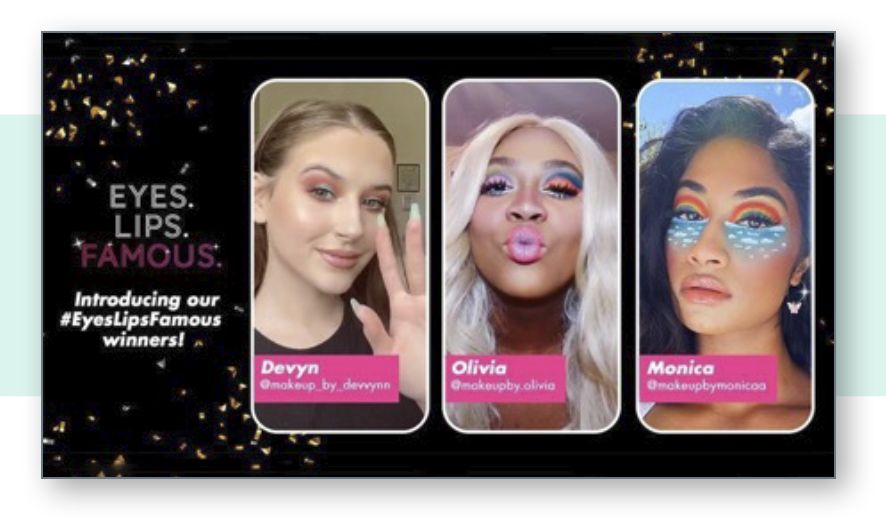 """Elf Cosmetics' """"Eyes, Lips, Face"""" challenge was the fastest TikTok campaign to hit one billion views in only six days."""