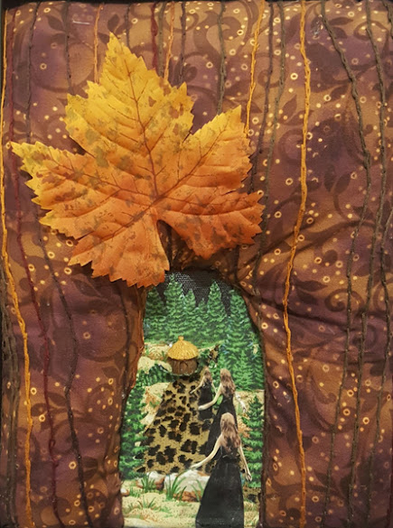 """HONORABLE MENTION """"When You enter the Tree"""" Fiber Art by Rhonda Schrum"""