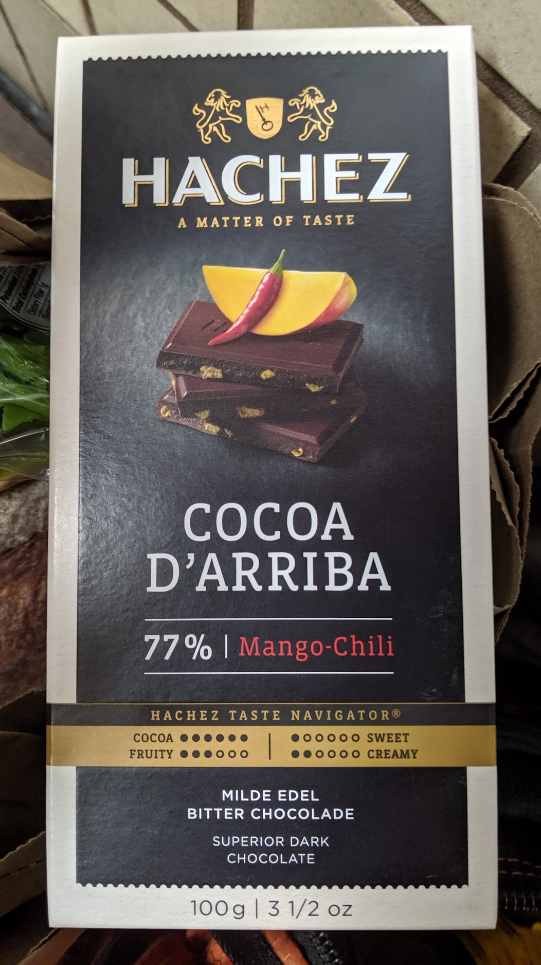 77% hachez chili bar