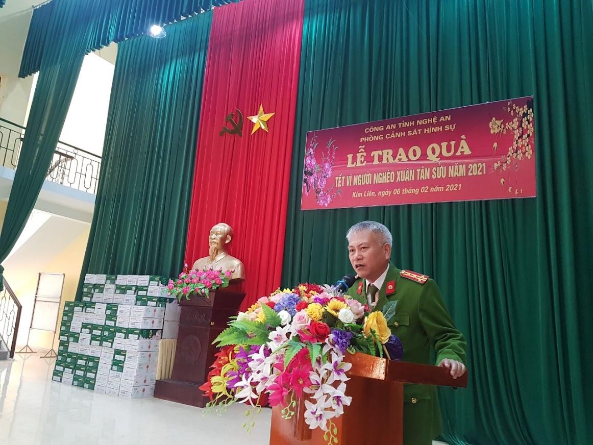 Đại tá Phạm Hoài Nam, Trưởng phòng Cảnh sát Hình sự phát biểu tại chương trình
