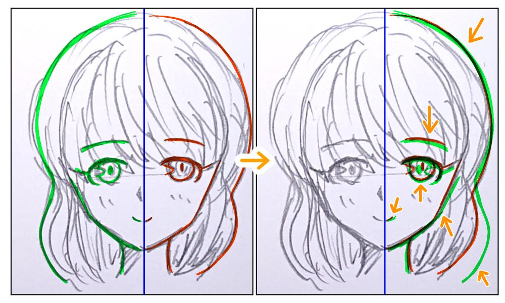 イラスト:左右対称
