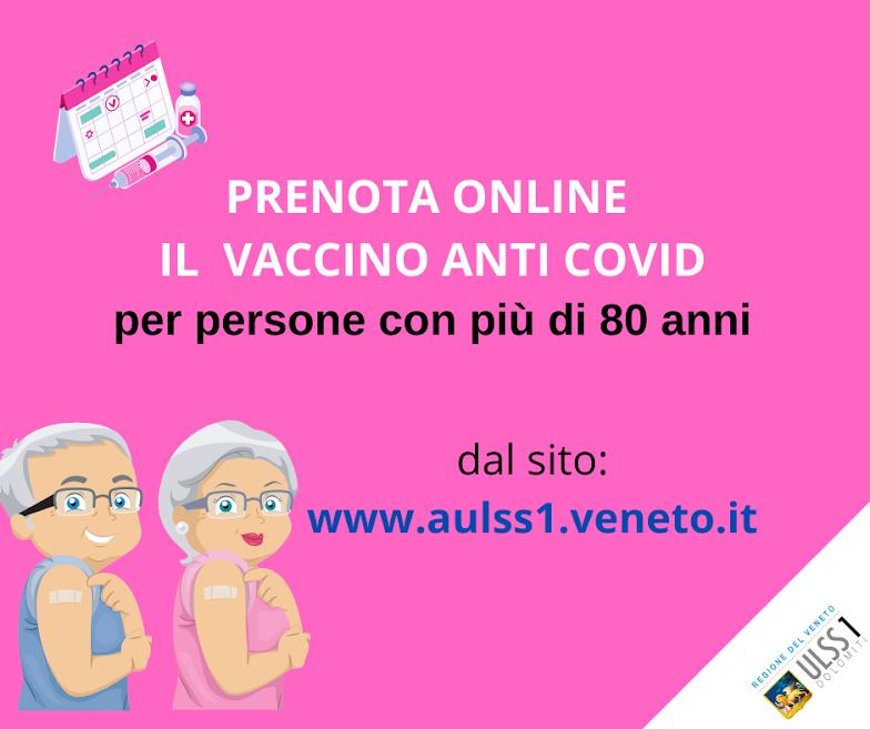 Manifesto recupero vaccinazione Over 80 Provincia Belluno