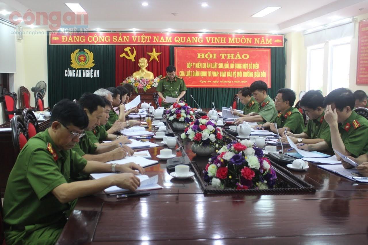 Hội thảo do đồng chí Đại tá Nguyễn Mạnh Hùng, Ủy viên BTV Đảng ủy, Phó Giám đốc Công an tỉnh chủ trì