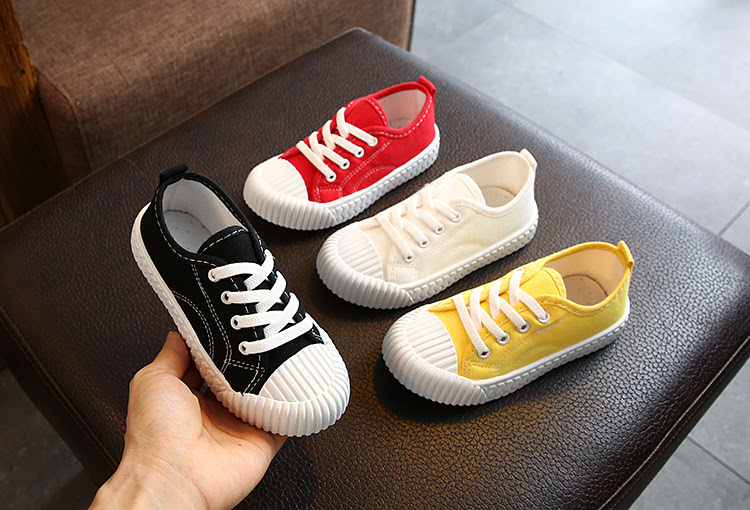Giày Thể Thao Cho Trẻ Em Giày Vải Mũi Vỏ Sò Thời Trang Độc Đáo Đế Thấp Size 26-36 - G11019