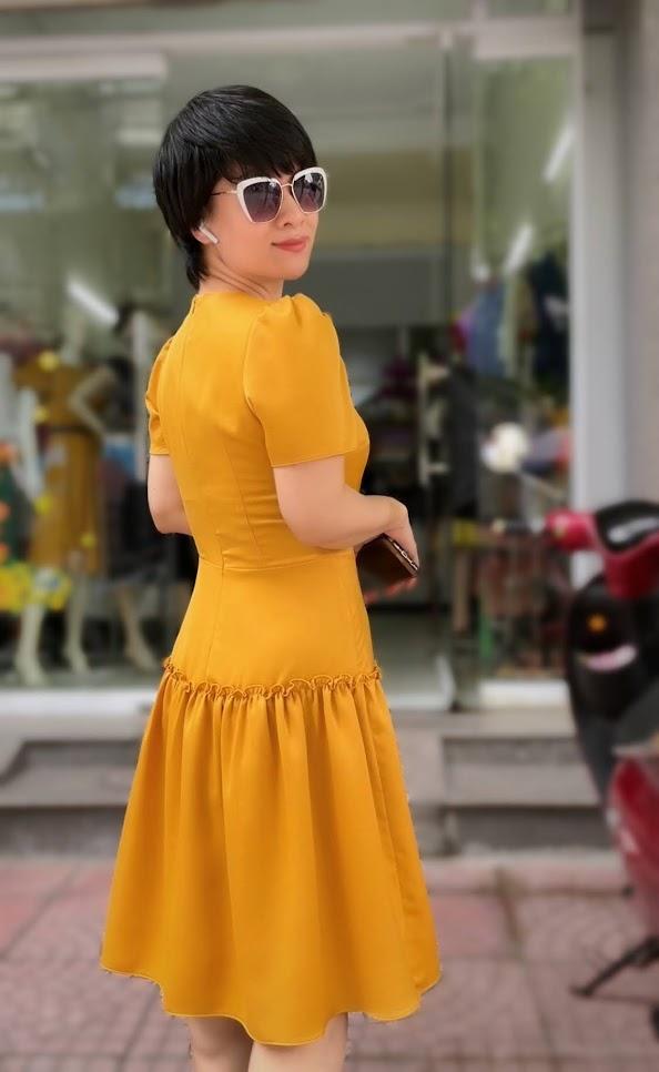 váy xòe midi công sở dạo phố thời trang thủy nam định