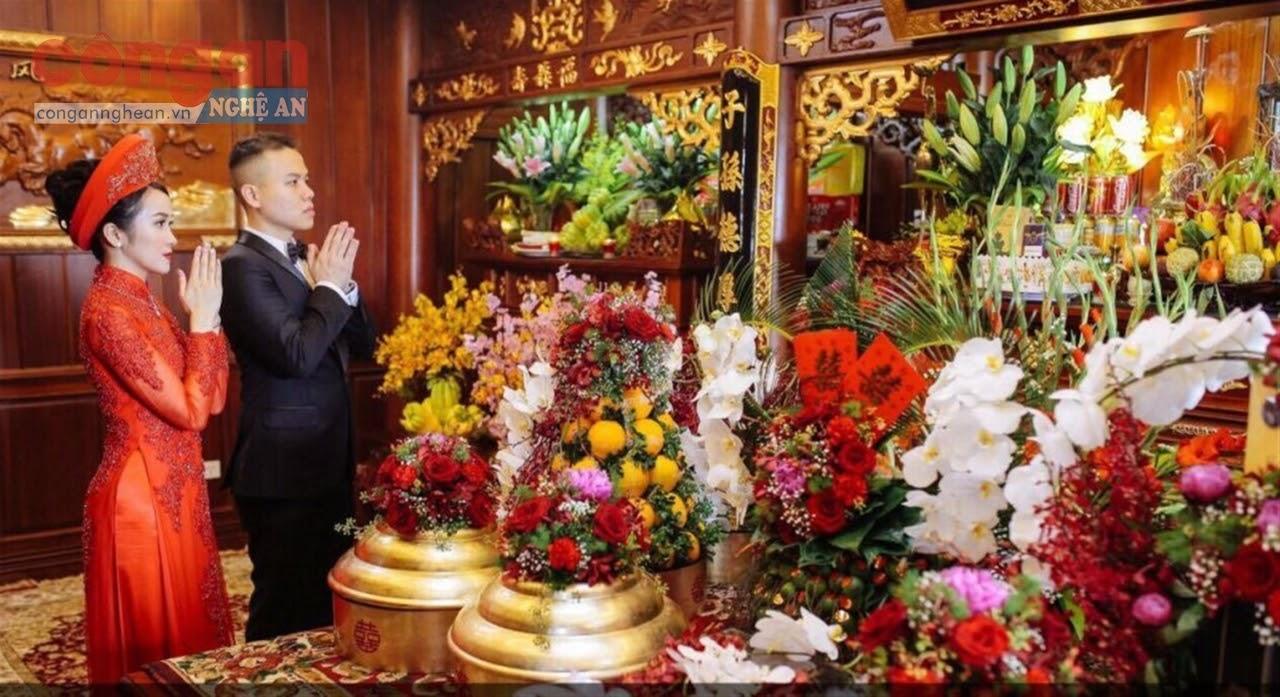 Đám cưới trang trọng, lành mạnh mà vẫn giữ được những nghi lễ truyền thống
