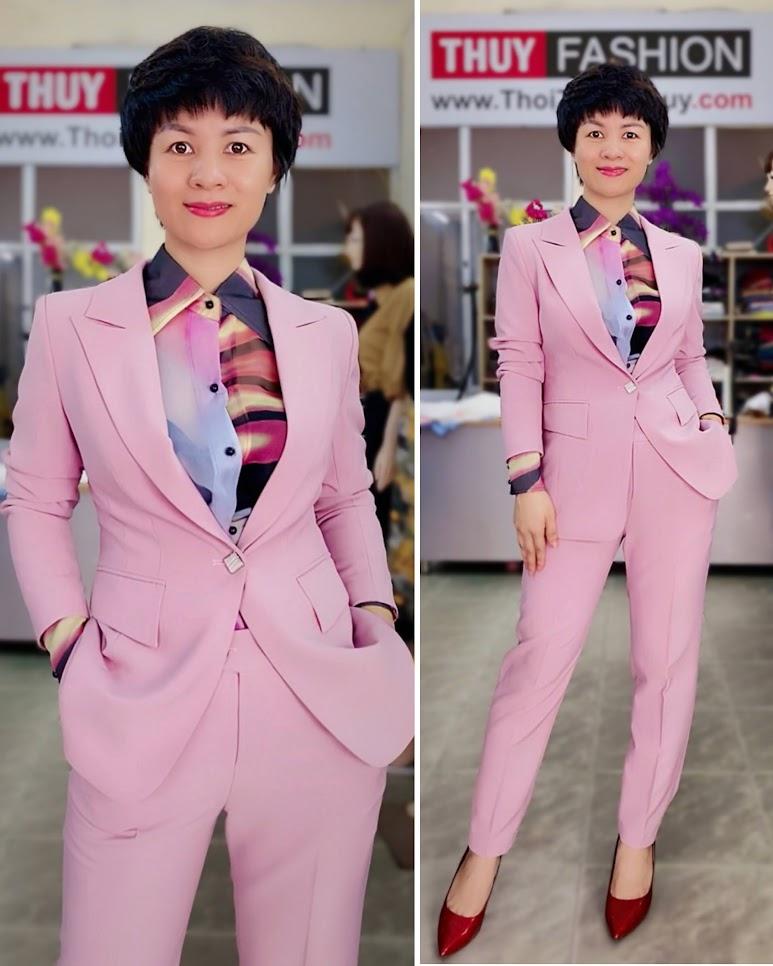 áo vest nữ màu hồng thời trang thủy hải phòng