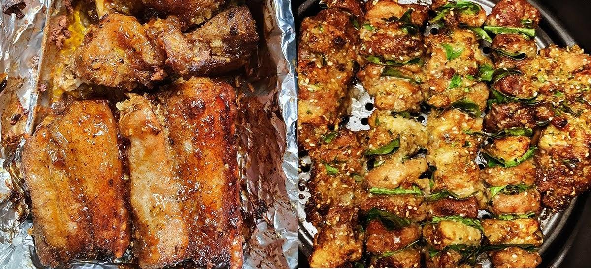 7 công thức nướng thịt heo thơm ngon, đậm đà bằng nồi chiên không dầu